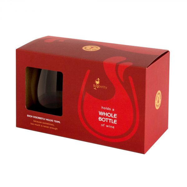 Stemless Big Betty Wine Glasses Packaging