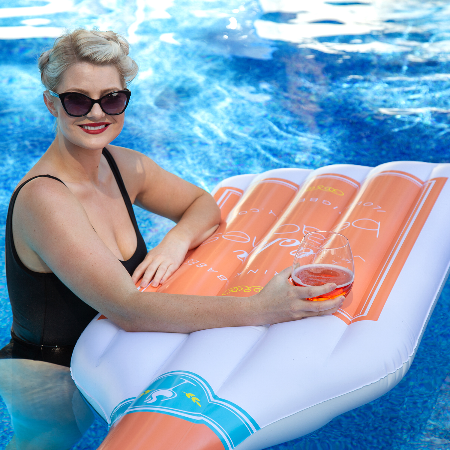 Soak Up the Sun with a Wine Bottle Pool Floaty | Big Betty Floats