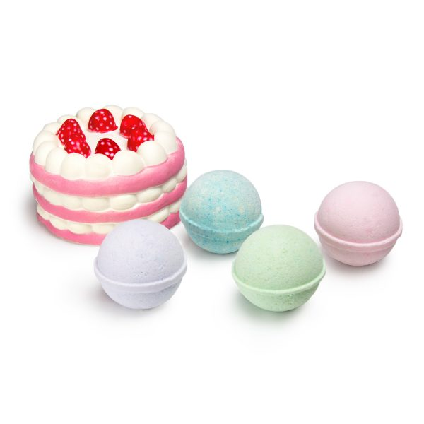 Bomb Be Calm Bath Bomb Set with Stress Relieving Squishy